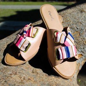 🆕// The Bell// Mauve stripe Sandal